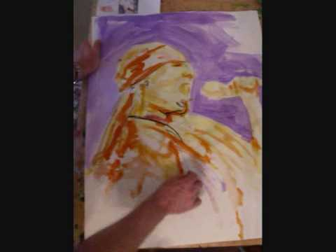 Learn to Paint Leroy Neiman Style --Guns & Roses