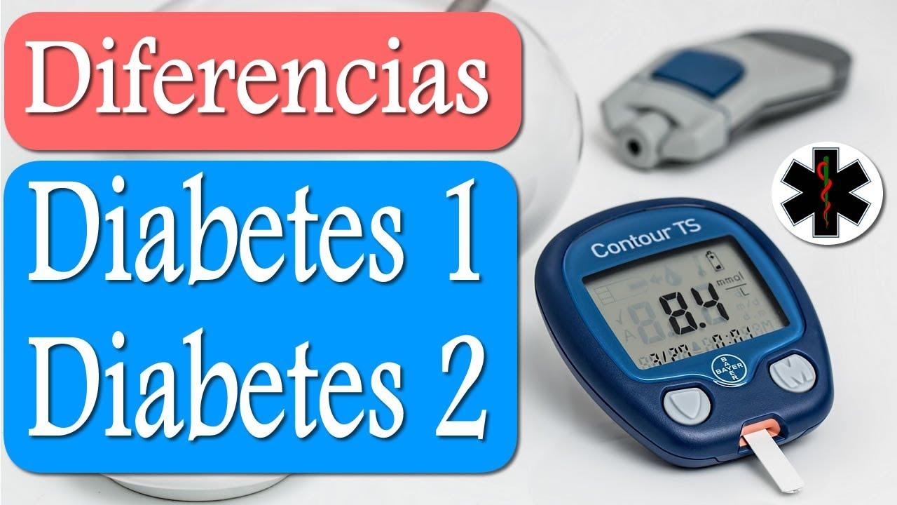 cual es la diferencia entre la diabetes mellitus tipo 1 y 2