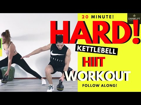20 min. Kettlebell Hiit Workout | Kettlebell Full Body Follow Along | Beginner Kettlebell Workout