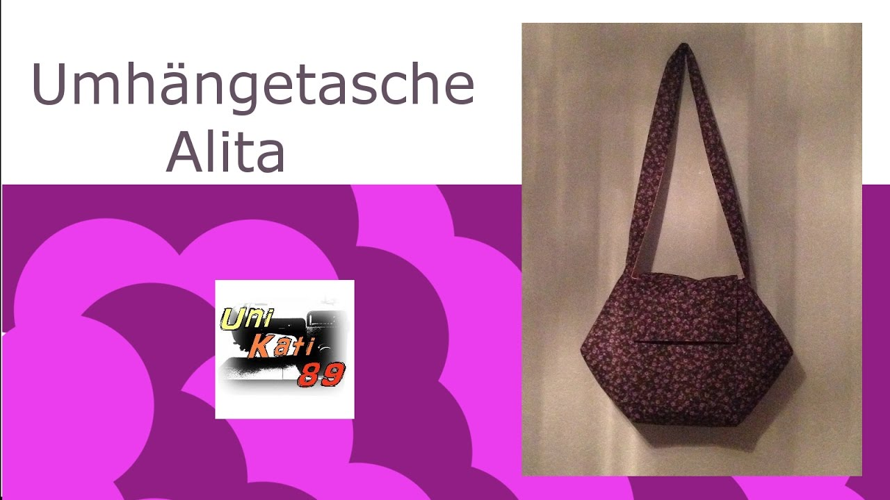 Umhängetasche Alita nähen Tasche Schnittmuster Anleitung #UniKati89 ...