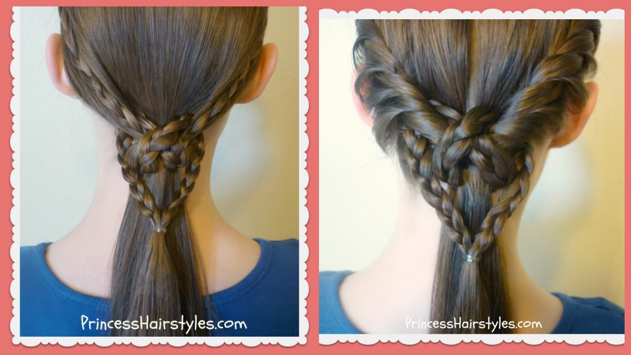 2 Easy Heart Knot Ponytails Valentine S Hairstyles Youtube