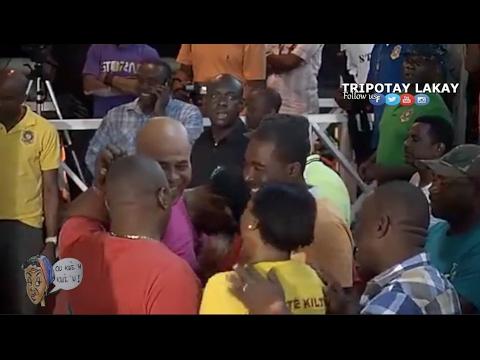 Jovenel Moise, Arnel Belizaire, Michel Martelly ak Jojo Lorquet nan KANAVAL Jacmel