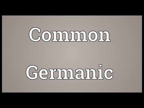 Common Germanic Meaning