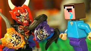 Лего Ниндзяго Маски ОНИ и Лего Нубик Майнкрафт Мультики LEGO Minecraft Мультфильмы для Детей