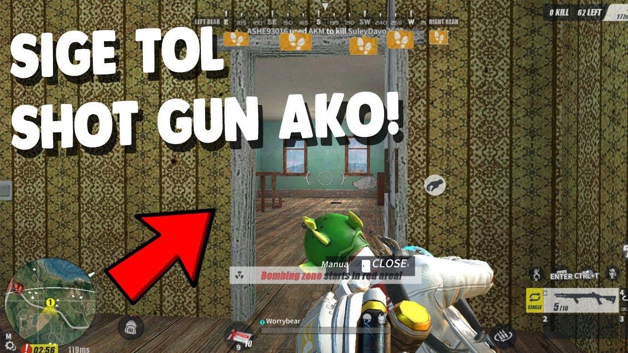 "SOLO VS FIRETEAM ""SHOT GUN ONLY"" [TAGALOG] (Rules of Survival: Battle Royale)"