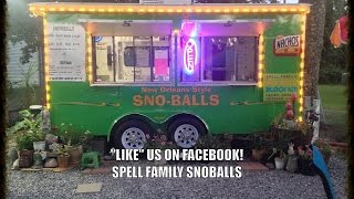 Spell Family Snoballs Flavor Challenge!  Snowball Stand On Tickfaw River.