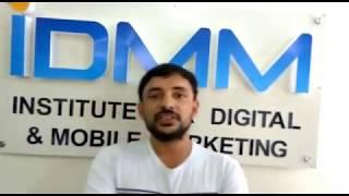 Pavan Kumar Digital Marketing Training Review at IDMM