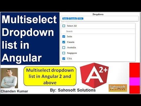 Multiselect Dropdown List in Angular 7 | Multiselect Dropdown List in  Angular 2 and above