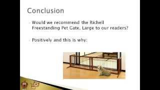 Watch The Richell Wood Free Standing Pet Gate Review Article Video! | Buy It On Sale Now In 2016!