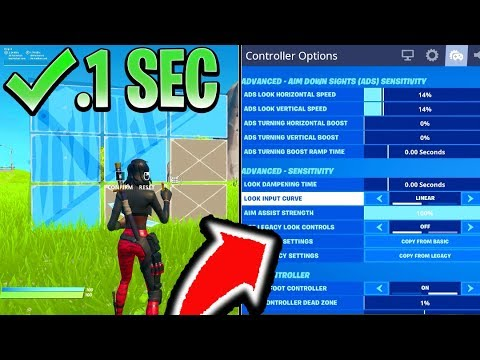 BEST CONTROLLER SETTINGS In Fortnite! BEST CONSOLE SETTINGS FOR PS4/XBOX (Fortnite Best Sensitivity)