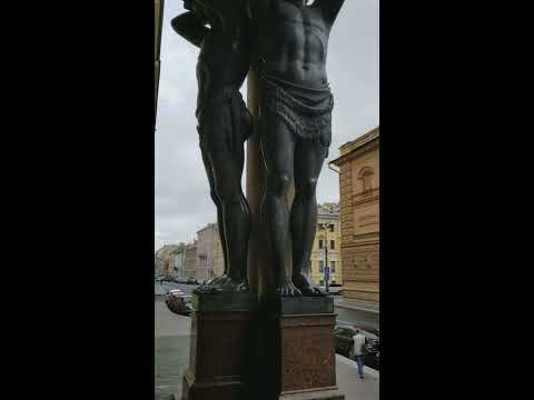 The Atlantes of the Hermitage in St. Petersburg, RUSSIA #6