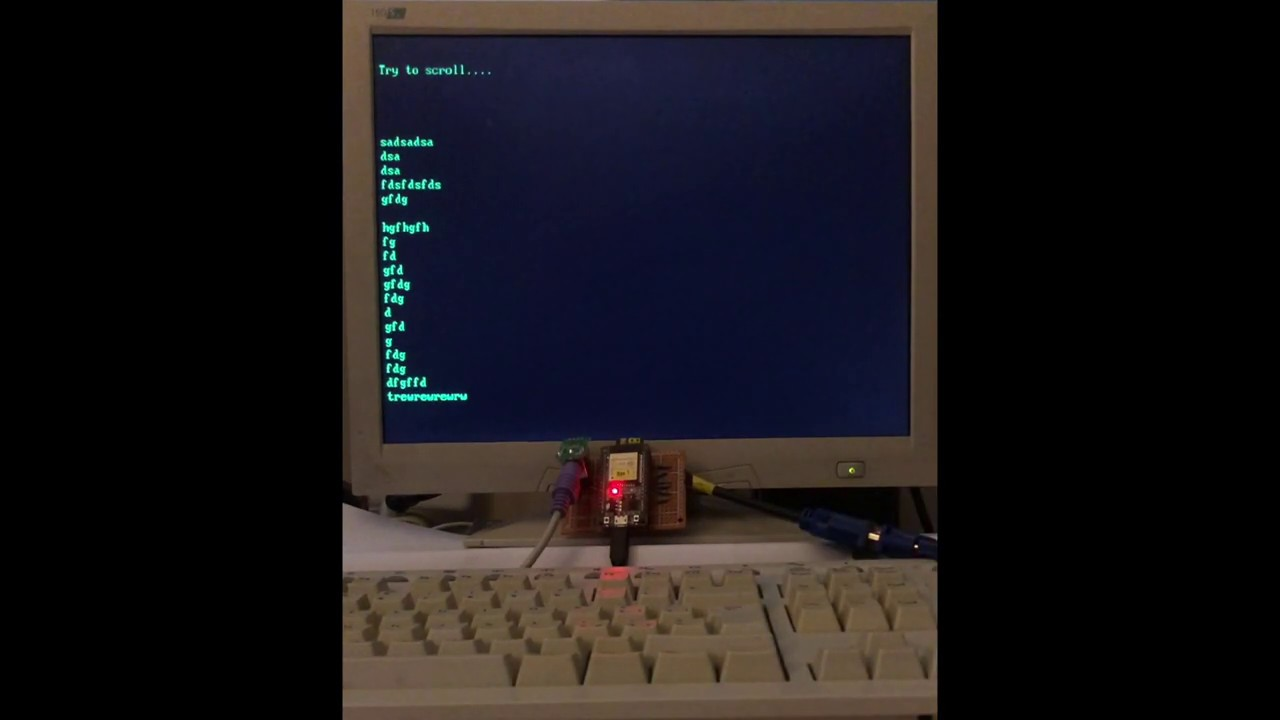 Loopback Terminal with ESP32 (FabGL library), Видео, Смотреть онлайн