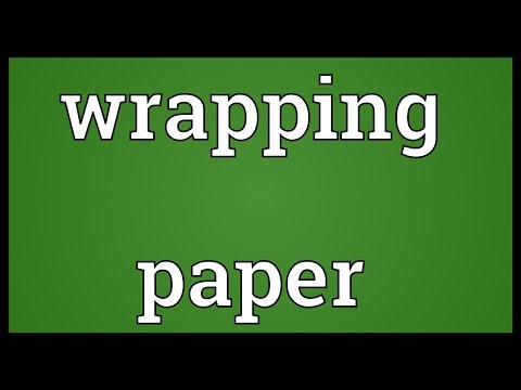 Wrapping paper Meaning