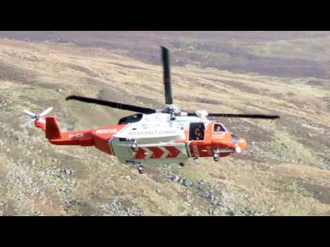 Rescue 117 over comeraghs Irish coast guard helicopter