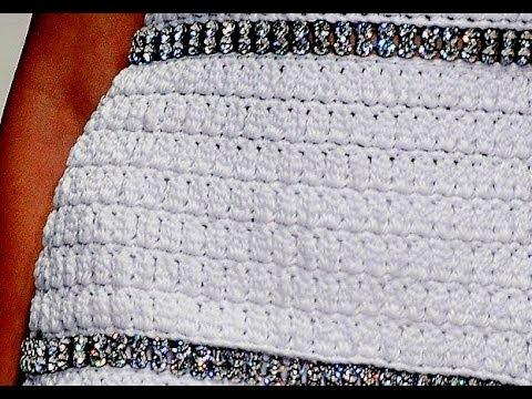 Как обвязать горловину у платья крючком