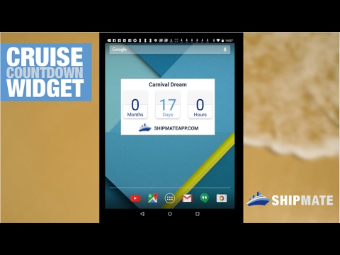 Ship Mate Tutorial #3: Cruise Countdown Widget (Android)