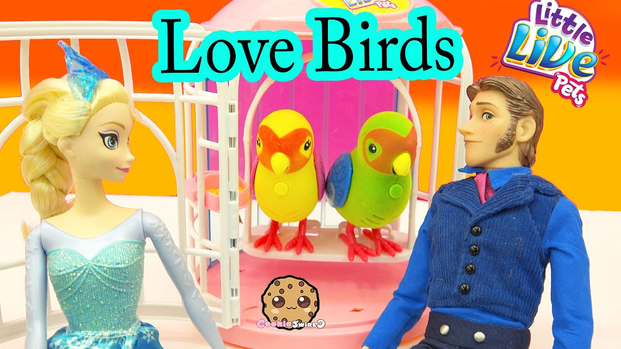 Little Live Pets LOVE Birds Talking Singing Interactive Toys with Frozen Queen Elsa - Cookieswirlc