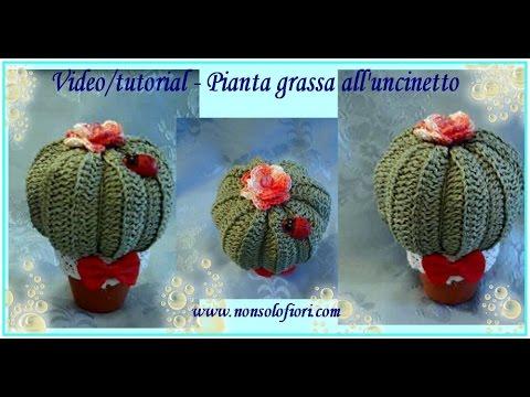 Pianta grassa all 39 uncinetto succulent plant youtube for Piante grasse uncinetto