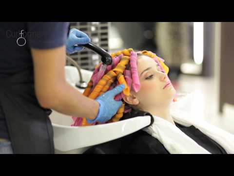 permanent waving with curlformers on long fine hair step by step youtube