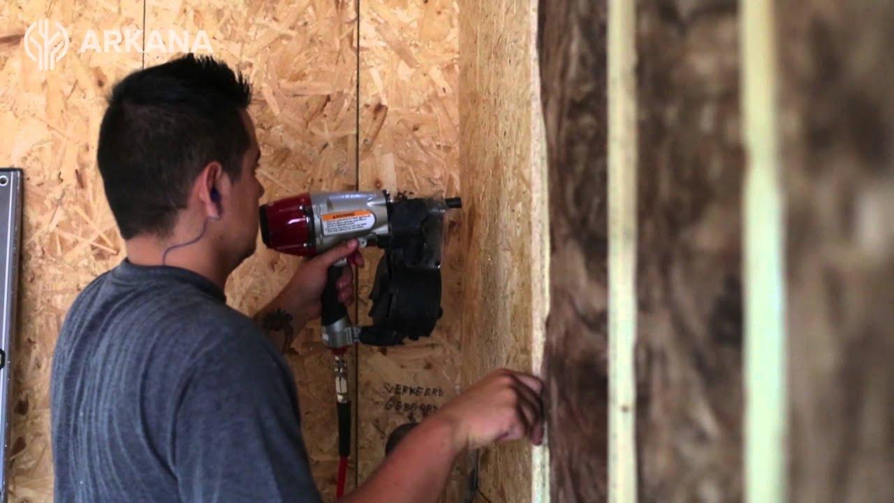 Underlayment In Badkamer : Osb platen plaatsen in houtskeletbouw youtube