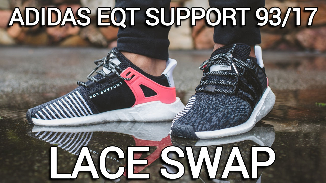 save off 32adf d93eb Adidas EQT Support 93 17 Lace Swap. Lace Lab