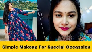 Simple Makeup For Special Occasion with Brown Smokey Eyes | AsianBeautySarmistha Makeup