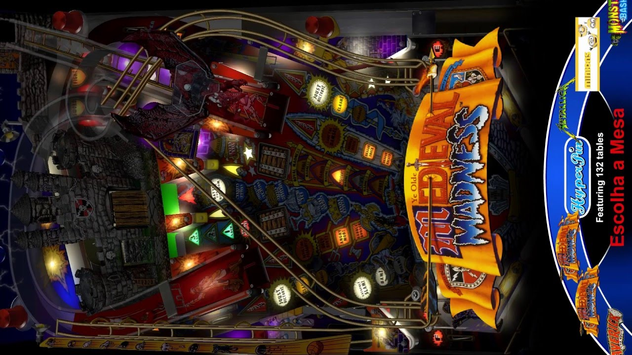 Multi pinball virtual 2 monitores parte playfield 130 in for Pinball de mesa