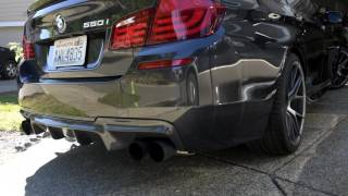 bmw f10 550i resonator delete before and after