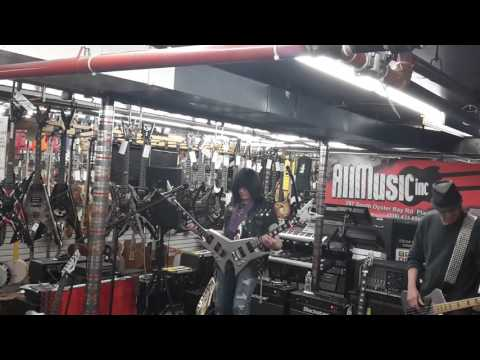 Michael Angelo Batio & Elliott Rubinson Dean Guitar Clinic All Music Inc in Plainview, NY