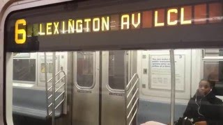 IRT Lexington Avenue Line: R62A & R142/A (4) (5) (6) Trains @ Bleecker Street