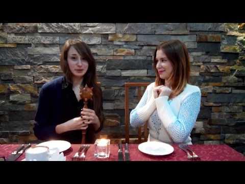 """Alla & Juliya. """"Hello from Ukraine"""". Dating in restaurant"""