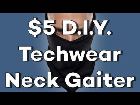 How To Sew a Neck Gaiter
