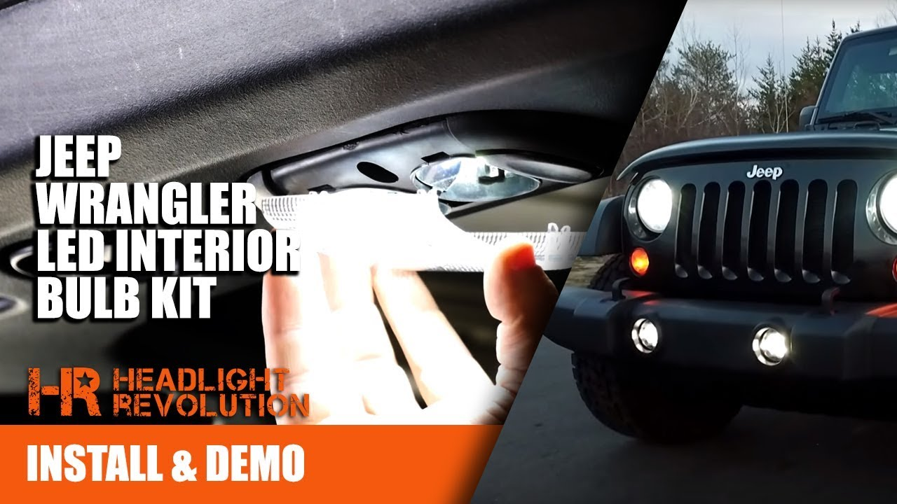 Request A Jeep Replacement Light Bulb Size Chart >> 07 17 Jeep Wrangler Jk Led Interior Bulb Kit Install Canbus