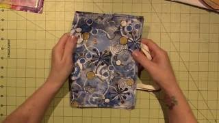 junk journal fabric cover