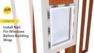 How To Install Nail Fin Windows Before Building Wrap