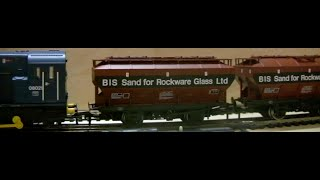 oorail.com | British Rail COVHOP wagons in BIS for Rockware Glass Livery