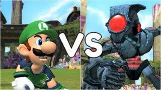 Super Mario Strikers - Luigi vs Super Team - GameCube Gameplay (720p60fps)