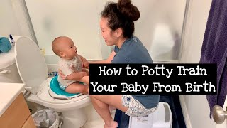 How We Potty Trained Our Baby from Birth Using Elimination Communication!