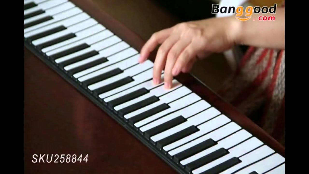 iword 88 key professional roll up piano with midi keyboard youtube. Black Bedroom Furniture Sets. Home Design Ideas