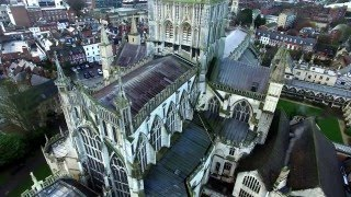 Gloucester Cathedral dji  drone footage 4k