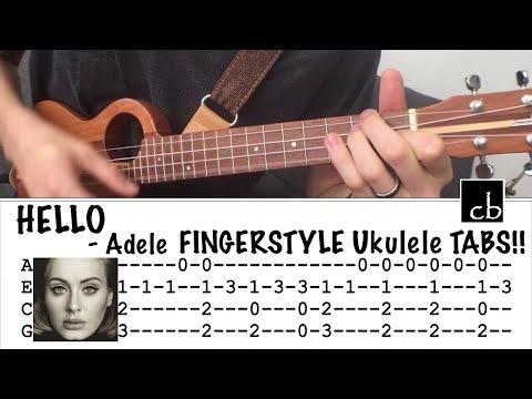 HELLO (Adele) FINGERSTYLE Ukulele TUTORIAL