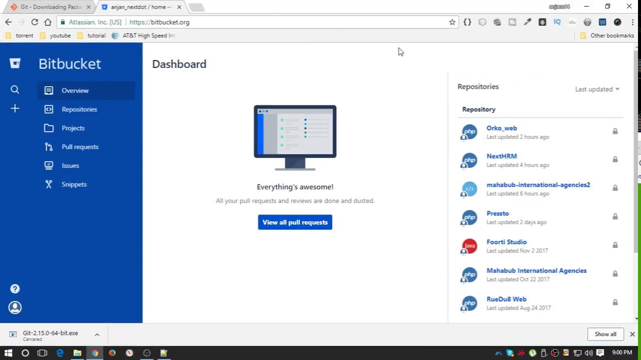 How to pull from bitbucket
