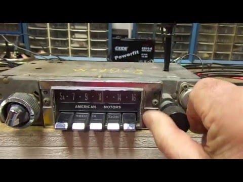 1968 - 1972 AMC Rambler Hornet Gremlin AM Radio Push Button