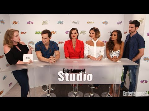 Lana Parrilla, Colin O'donoghue, Andrew J. West, Dania Ramirez and Gabrielle Anwar with EW SDCC 2017