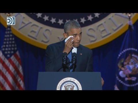 Barack Obama se despide emocionado de la Casa Blanca en su último discurso