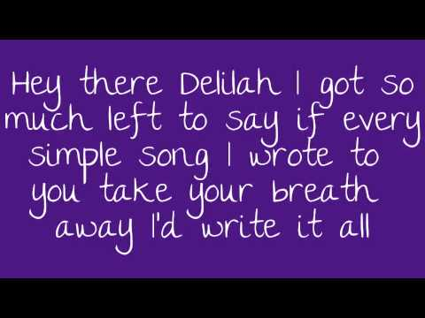 Hey There Delilah Lyrics