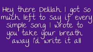 Repeat youtube video Hey There Delilah Lyrics