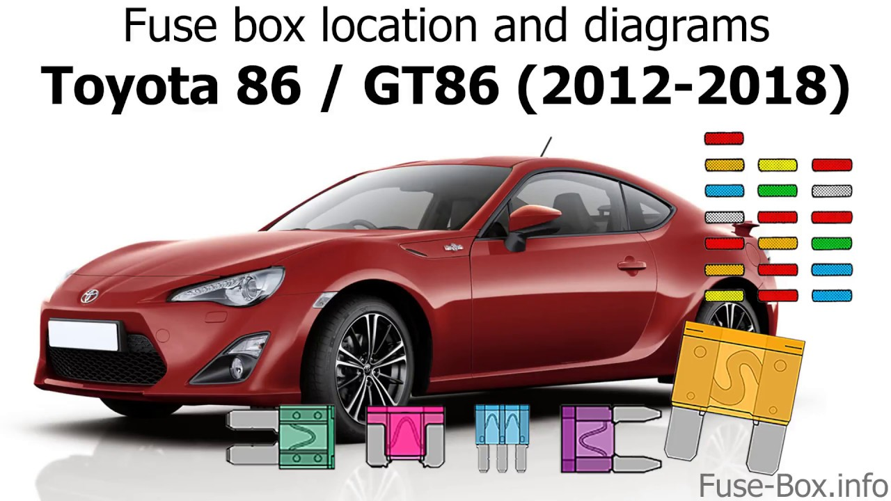 Fuse Box Location And Diagrams Toyota 86 Gt86 2012 2018 Youtube