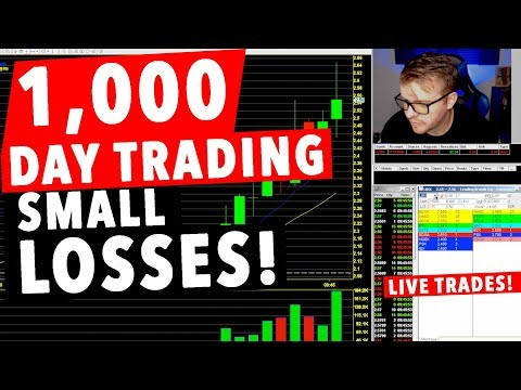 1,000 Dollar Day Trading LIVE! SMALL LOSSES!