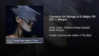 Concerto for Strings in G Major, RV 325: I. Allegro